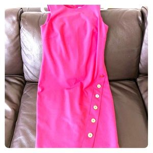 Pink Calvin Klein dress with gold buttons